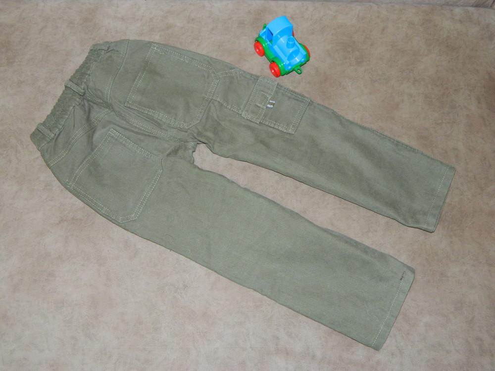 Штаны брюки детские цвет зелёный на мальчика 4-5 лет mothercare. фото №2