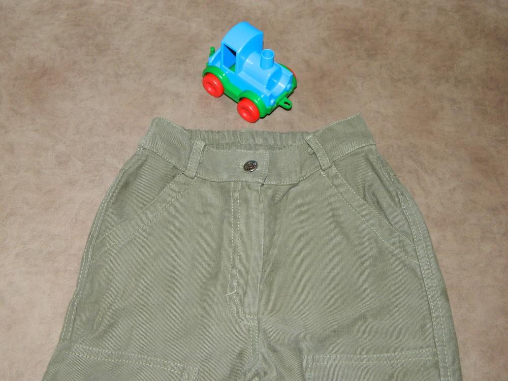 Штаны брюки детские цвет зелёный на мальчика 4-5 лет mothercare. фото №3