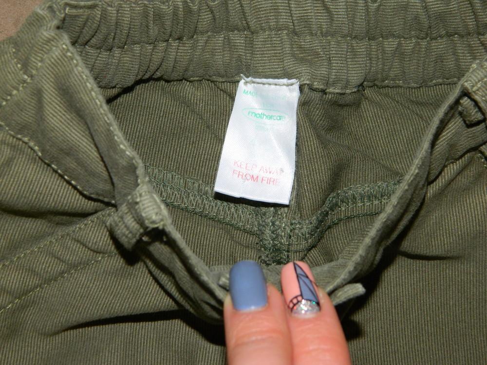 Штаны брюки детские цвет зелёный на мальчика 4-5 лет mothercare. фото №4