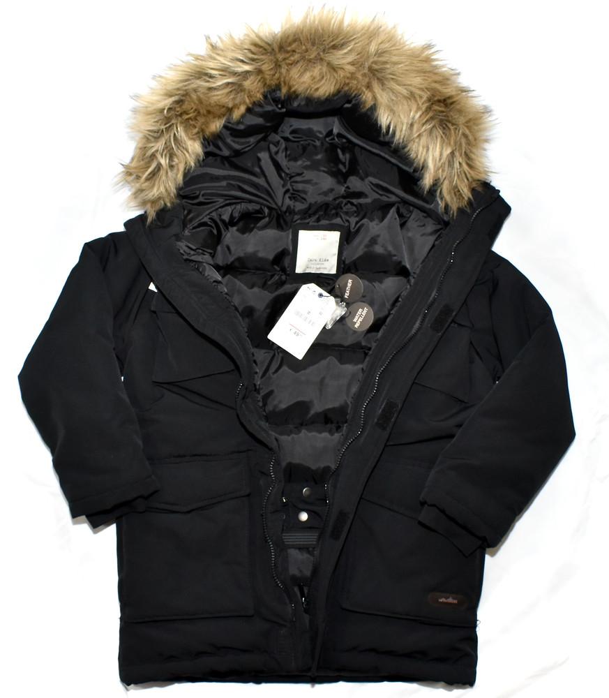Парка, зимняя куртка, пуховик zara. натуральный наполнитель пух-перо фото №4