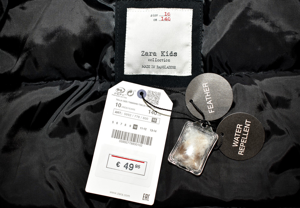 Парка, зимняя куртка, пуховик zara. натуральный наполнитель пух-перо фото №8