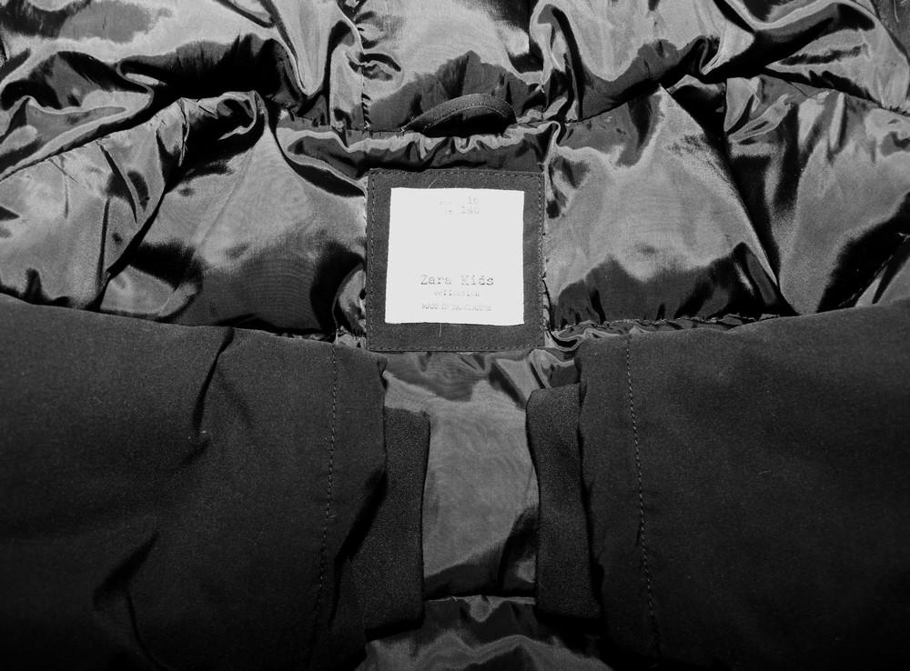 Парка, зимняя куртка, пуховик zara. натуральный наполнитель пух-перо фото №9