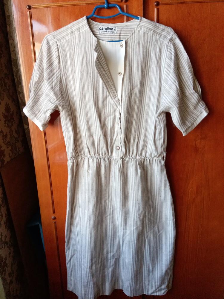 Льняное летнее платье р.42euro фото №1
