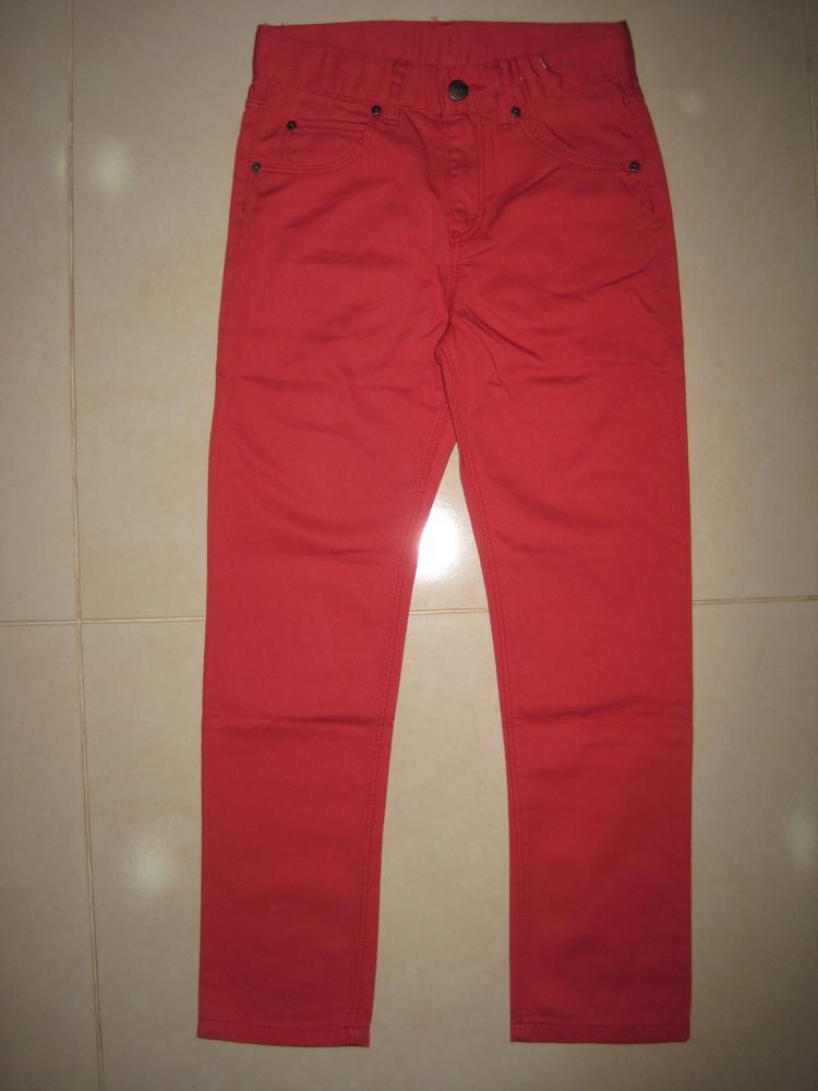 1/414. штаны для девочки. на 7-8 лет, рост 128 см. (см. замеры). h&m. в хорошем состоянии! фото №1