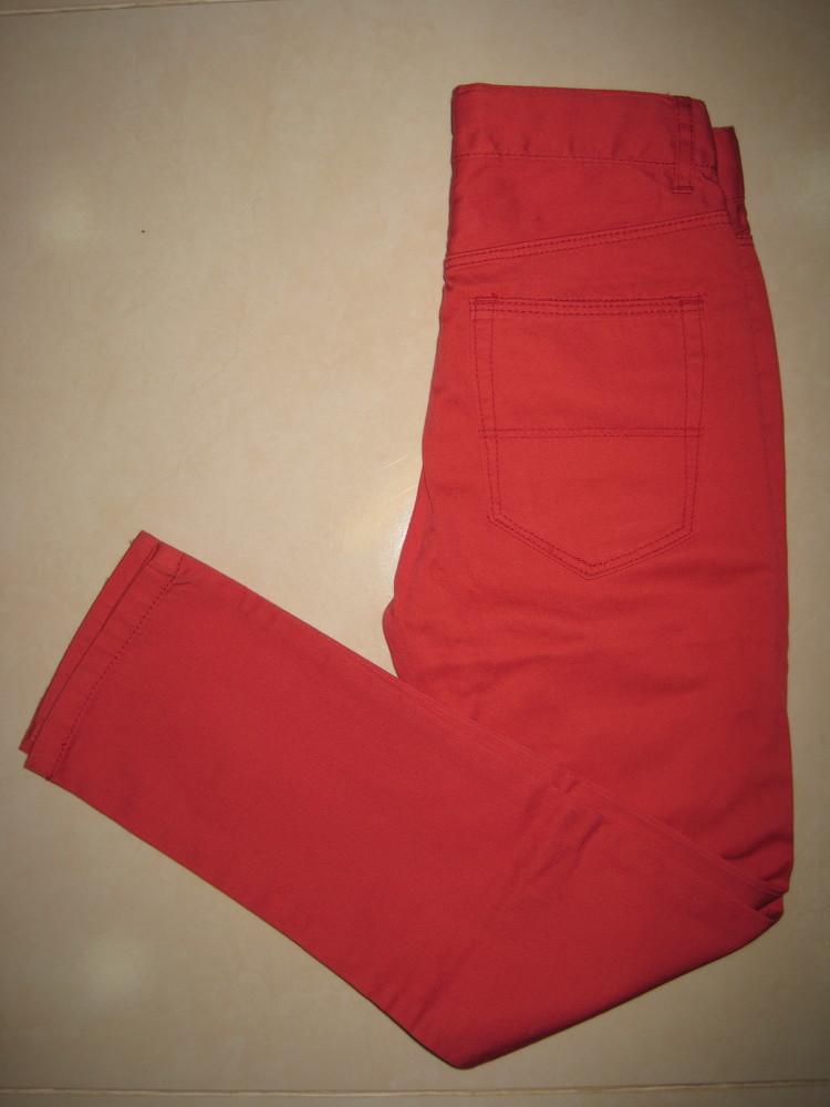 1/414. штаны для девочки. на 7-8 лет, рост 128 см. (см. замеры). h&m. в хорошем состоянии! фото №3