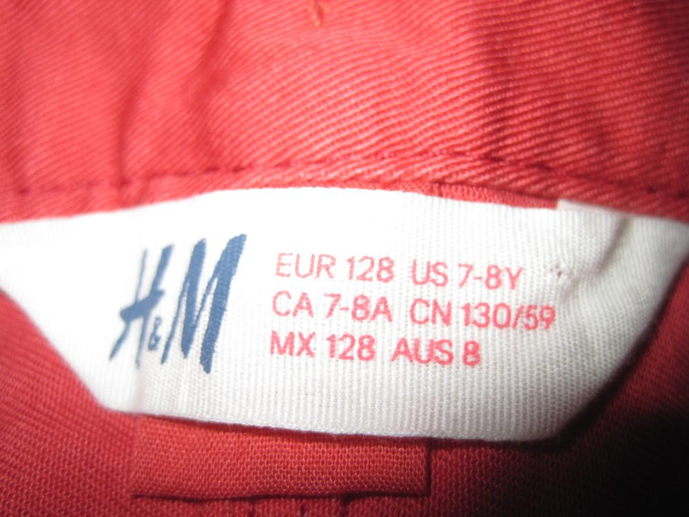 1/414. штаны для девочки. на 7-8 лет, рост 128 см. (см. замеры). h&m. в хорошем состоянии! фото №4