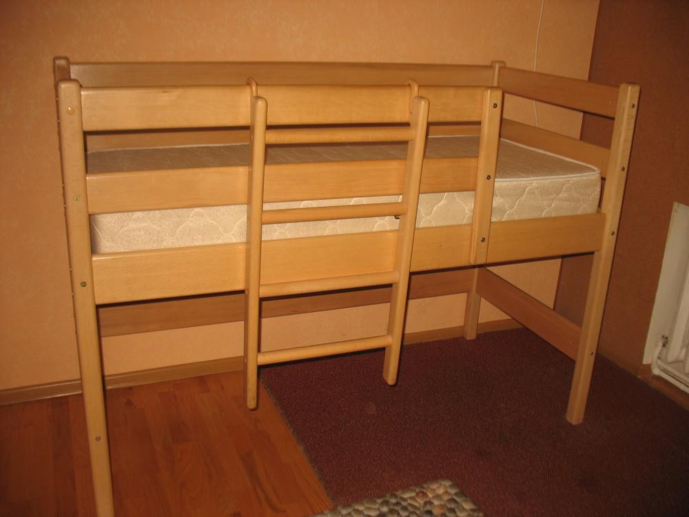 Продам кровать-чердак вместе с матрасом, изготовленные фирмой «ирель», б/у. фото №9