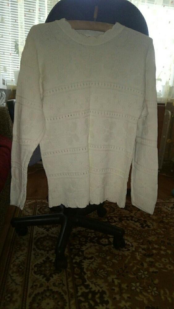 Женская белая кофта 46 размера фото №1